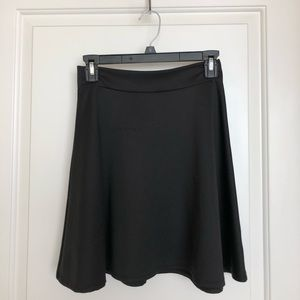 Fit and Flare Black Skirt